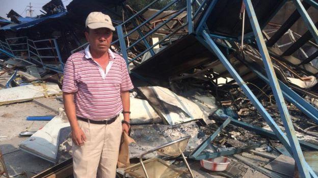 Workers dormitories destroyed in Tianjin. 13 Aug 2015