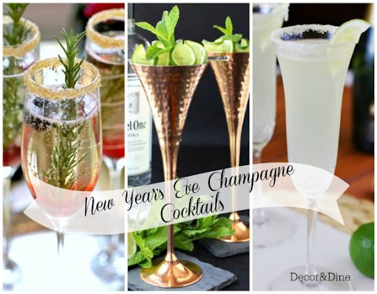 New Year's Eve Champagne Cocktails