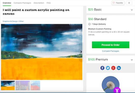 Order a Custom Acrylic Painting from Me on Fiverr | Eliza Donovan Art