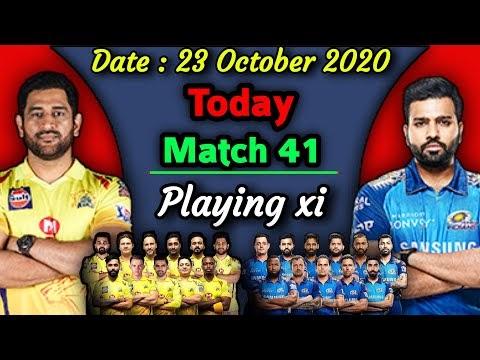 IPL 2020 - Match 41 | Mumbai Indians vs Chennai Super kings Playing xi | CSK vs MI Playing 11