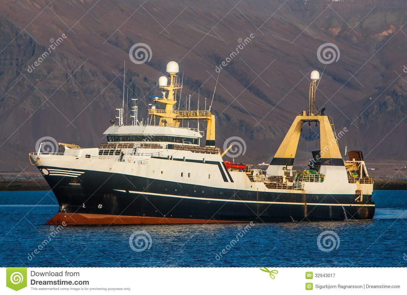 commercial fishing factory stern trawler from the Faroe Islands