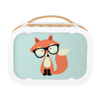 Cute Hipster Red Fox Lunchbox