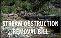 Update on my Stream Obstruction Removal Bill