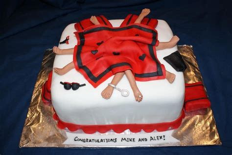Joint Bachelor/Bachelorette Party cake. www