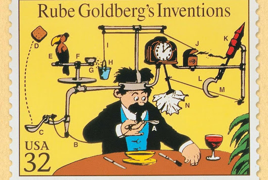 The Story Behind Rube Goldberg's Complicated Contraptions