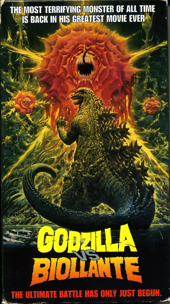 Godzilla vs Biollante (VHS Box Art)
