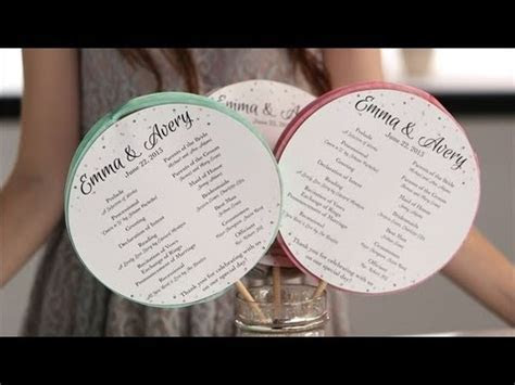 DIY Ceremony Programs Your Guests Will Love!   Honeycomb