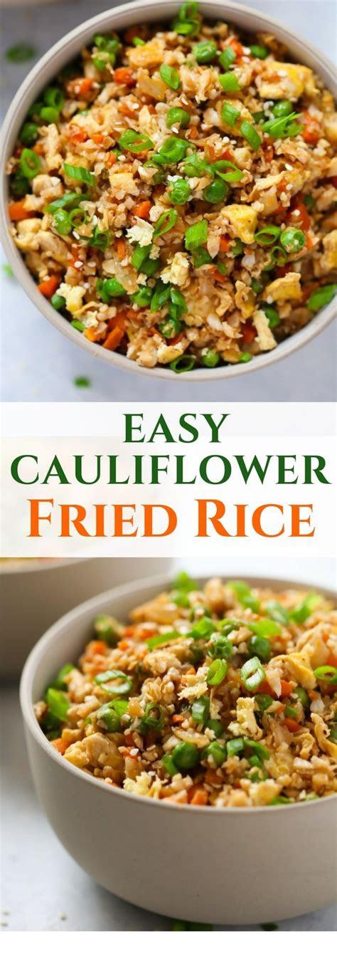 easy cauliflower fried rice recipe  carb