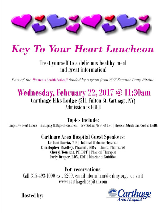 Key to Your Heart Luncheon - Carthage Area Hospital