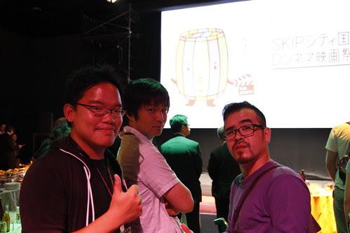 With Hashiguchi and STRAWBERRY JAM director Norihiro Niwatsukino