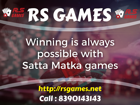 Most Trusted Online Satta Matka Play Website – Rs Games