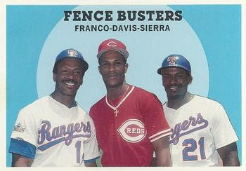 1989 Baseball Card Magazine '59 Topps Replicas #68 Fence Busters (Julio Franco / Eric Davis / Ruben Sierra) Front