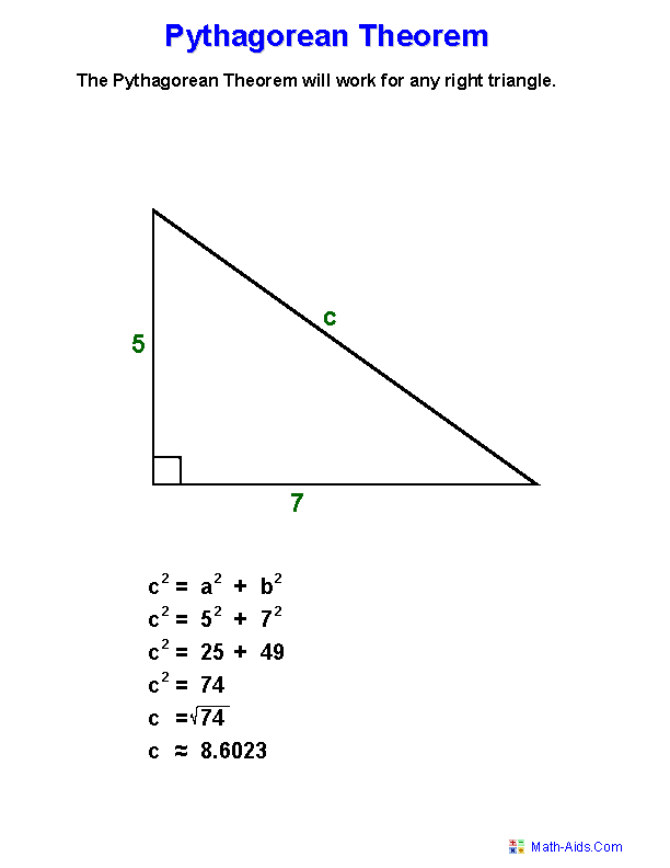 Pythagorean Theorem Worksheets Practicing Pythagorean Theorem