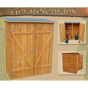 xl holz ger tehaus ger teschuppen gartenschrank gartenhaus. Black Bedroom Furniture Sets. Home Design Ideas