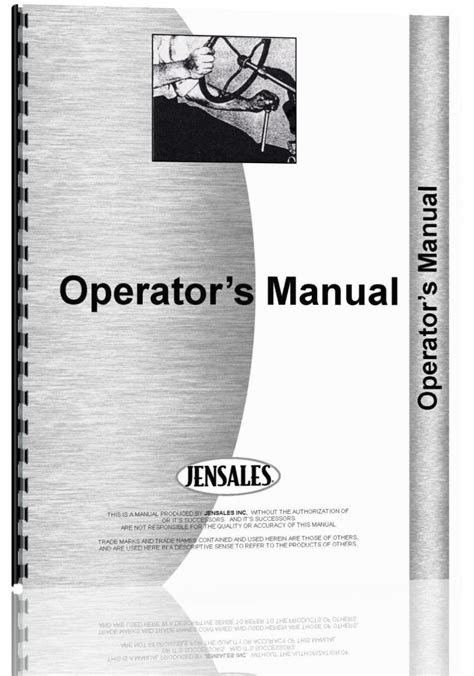 New Holland 9480 Tractor Operators Manual