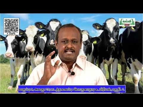 9th Science பொருளாதார உயிரியல்  அலகு 2 பகுதி 2  Kalvi TV
