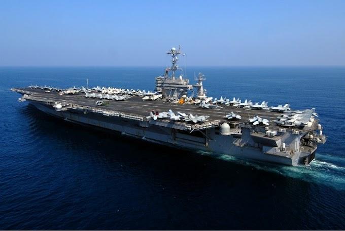 Irã detecta porta aviões americano onde faz treinamento militar