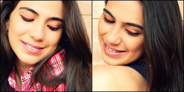 juliana leite maquiagem inspirada na joaninha delineado duplo diferente ladybug make up14