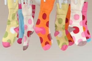 Socks drying indoors