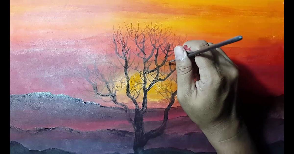 30++ Contoh Lukisan Pemandangan Malam Hari Yang Mudah ...