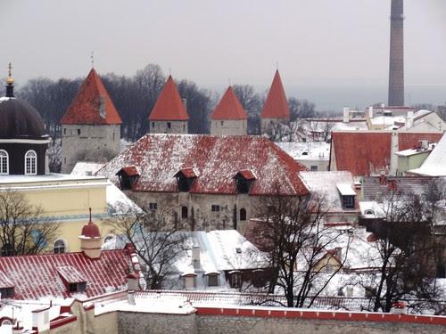 Tallinn Altstadt im Winter