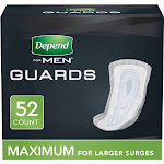 Depend Incontinence Guards for Men - Maximum Absorbency - 52ct