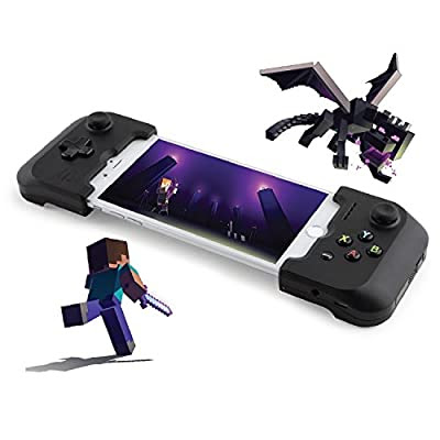 Gamevice Controller Gamepad - iPhone Game Controller [Minecraft Bundle] (Apple MFi Certified) iPhone X Gaming, 8 Plus, i Phone 7 Plus, 8, 7, 6, 6s [DJI Spark Drone Flight Control] (NEW 2018)