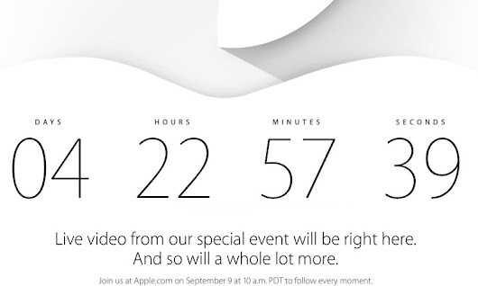 Apple to Live Stream September 9 iPhone Event