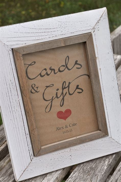 Rustic Wedding Cards & Gifts Sign ? Baby Shower Sign