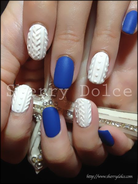 knit pattern #nail #nails #nailart