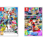 Nintendo Super Smash Bro & Mario Kart 8 Video Games for Nintendo Switch System SWITCH-SMASHBROS-MARIOKART