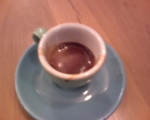 Shot of ecco caffe espresso@ cafe grumpy (chelsea)