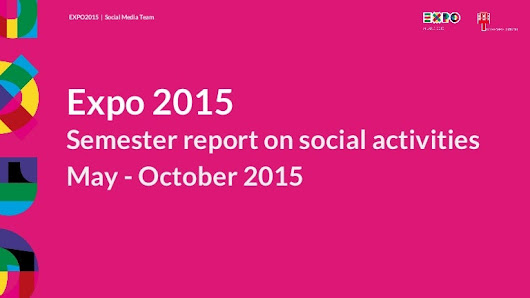 Report semester social media activities - Expo 2015 Milano