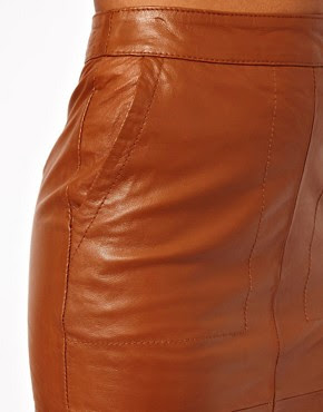 Image 4 of ASOS Pencil Skirt In Leather