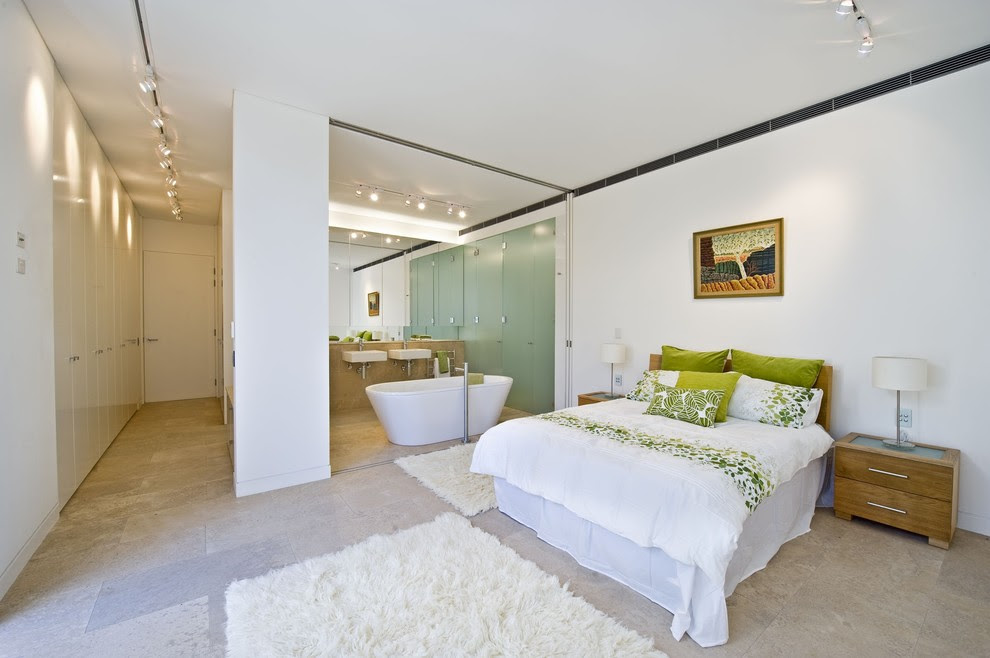 Chic Flokati In Bedroom Contemporary With Green Bedroom Next To Luxury Master Bathroom Designs Alongside Long Narrow Bedroom And Lazy Susan Corner Cabinets