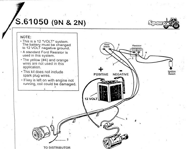 1949 Ford 8n Tractor Wiring Diagram To 12 Volt Conversion ...