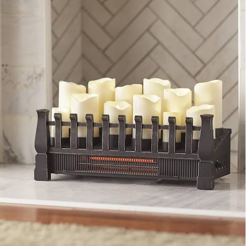 Google Express Brindle Flame 20 in Candle Electric Fireplace