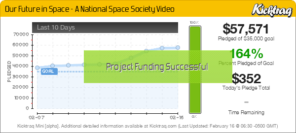 Our Future in Space - A National Space Society Video -- Kicktraq Mini