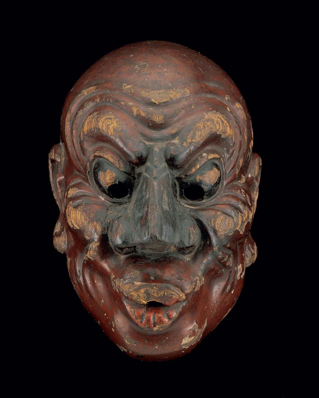 Bugaku mask, possibly of the Kotokuraku-heishitori type ...