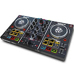 Numark Party Mix DJ Controller with Built In Light Show, Black