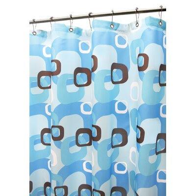 Watershed Groovy Circles Shower Curtain in Tangelo   Wayfair