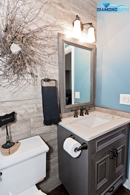 Picture Perfect Powder Room In Johnsburg We Renovate And Remodel Bathrooms