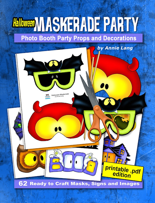 Halloween Maskerade Party: Photo Booth Party Props and Decorations Activity Book