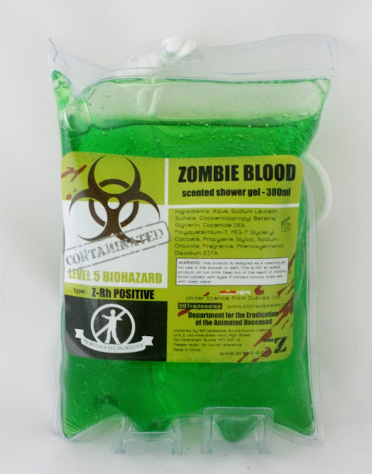 Zombie Shower Gel - Review and Giveaway - Life in a Break Down