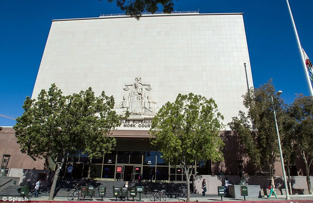 Where the magic happened: Kim learned at Los Angeles Superior Court on Friday that she's officially free of Humphries