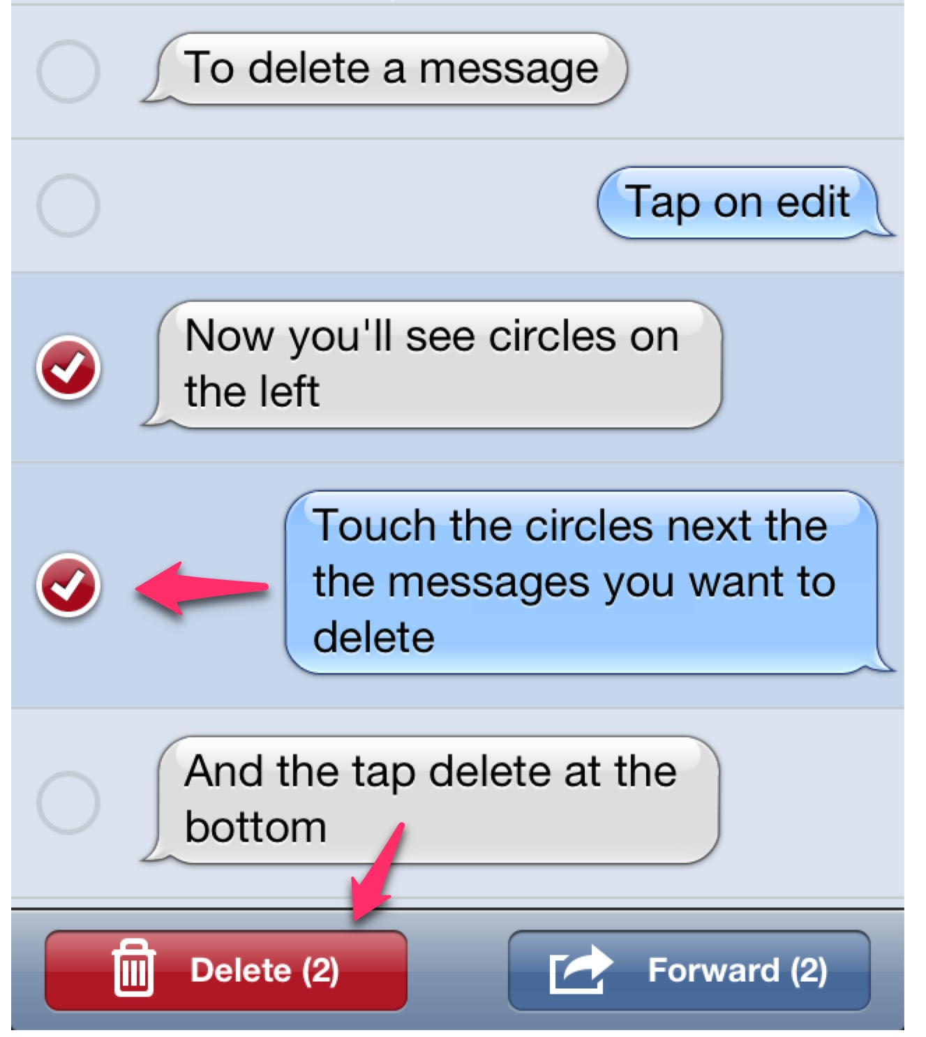 How to Delete a Text Message from Your iPhone | sharechair