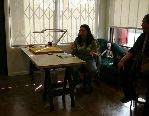 Carol Es in her studio