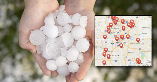 Kansas City Hail Map - Roofing Kansas City