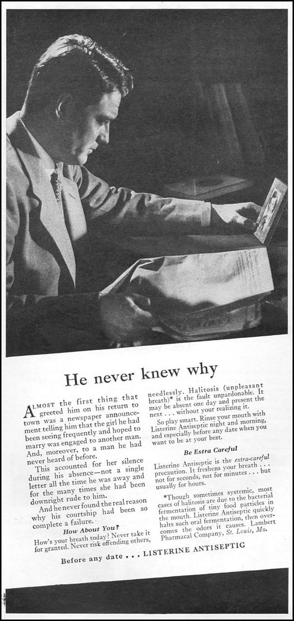 LISTERINE ANTISEPTIC NEWSWEEK 06/11/1951 p. 6