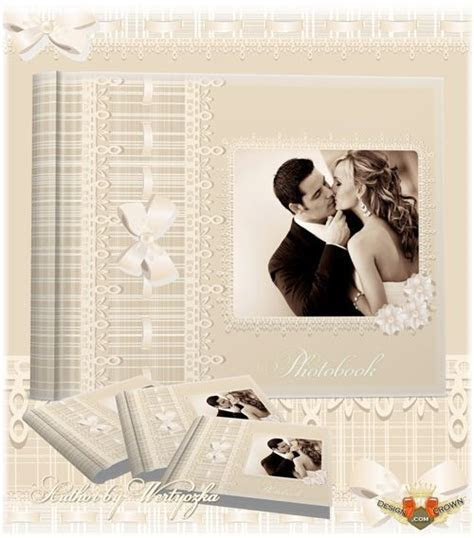 Elegant vintage wedding borders for pictures and psd album